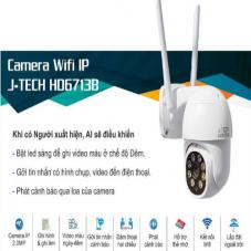 CAMERA WIFI IP J-TECH HD6713B (2MP, XOAY, SMART LIGHT, ZOOM)