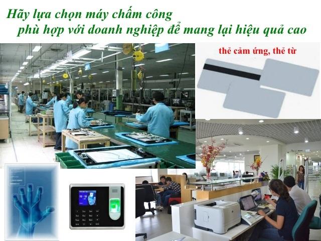 cach lua chon may cham cong van tay tai go vap
