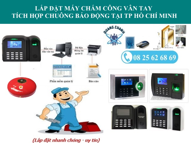 may cham cong van tay co chuong bao tu dong tai tp HCM