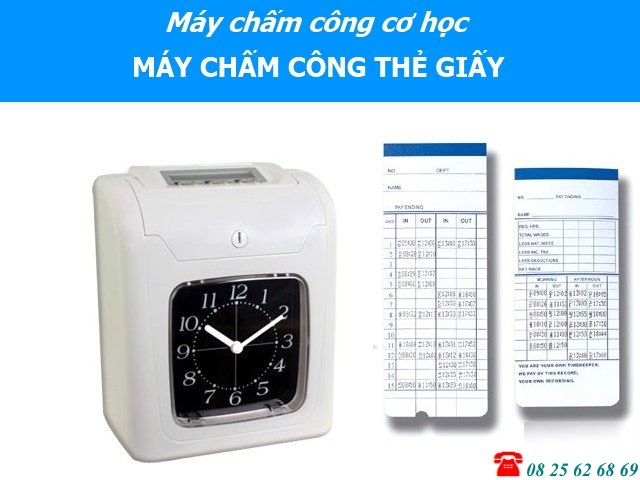 may cham cong the giay