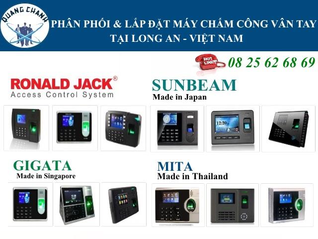 phan phoi may cham cong van tay tai long an