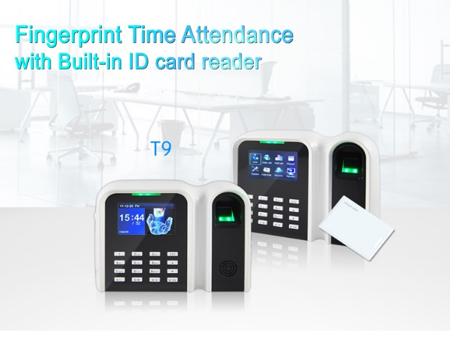 ( T9 )  Biometric Fingerprint Time Attendance system with TCP/IP